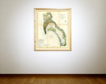 Print of Antique Map of San Diego on Matte Paper, Photo Paper, or Stretched Canvas. Free Shipping!