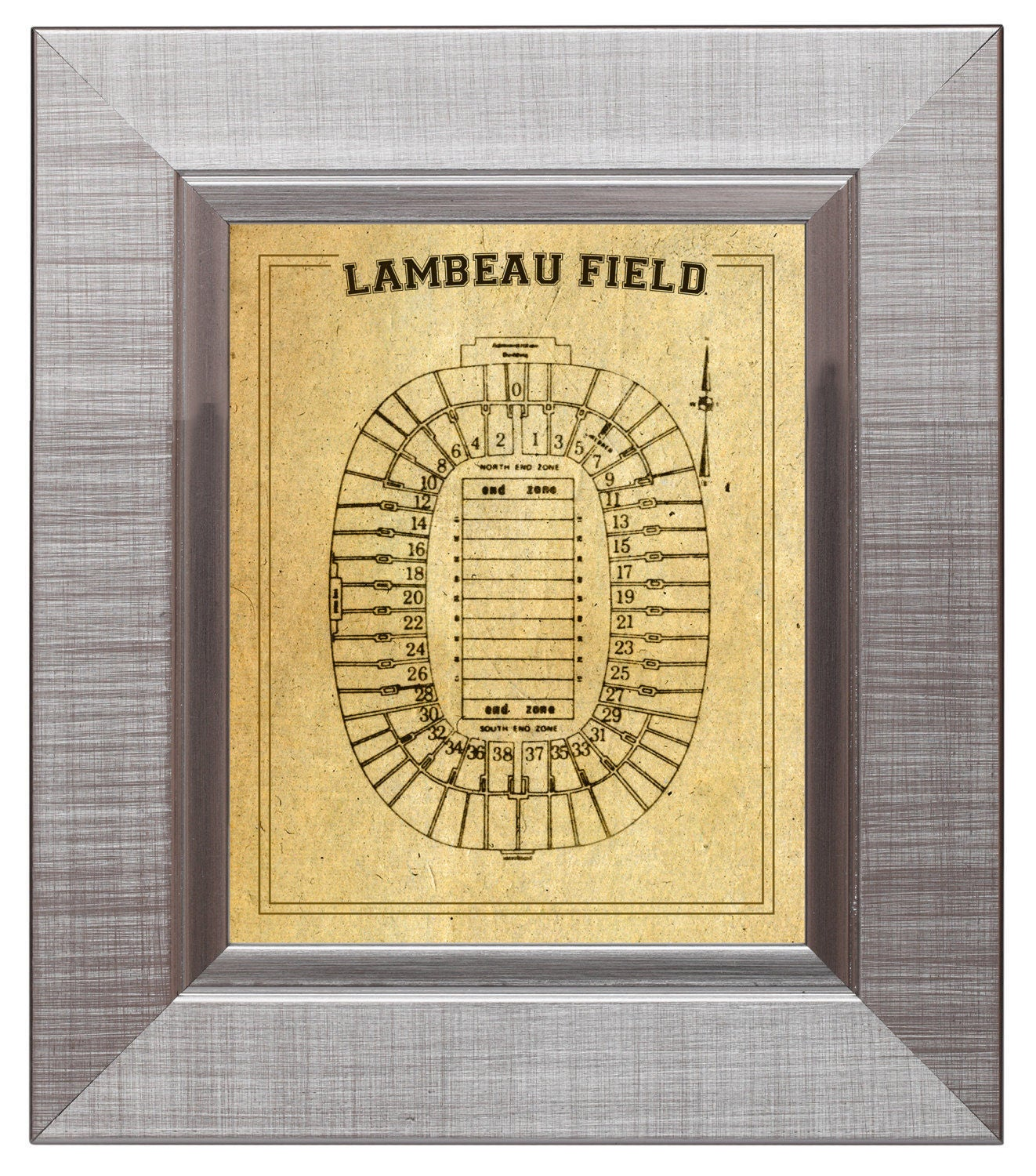 Print of vintage lambeau field seating chart seating chart for 12x15 calculator