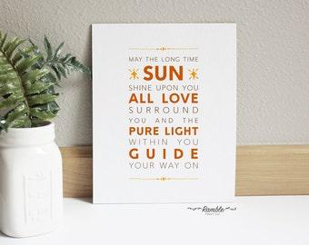 Inspirational Yoga Quote, Long Time Sun, Motivational Wall Decor, Yoga Studio Art, Digital Print, Instant Download