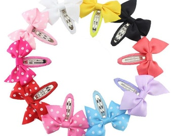set of 20 bows hair clips, 45mm baby hair clips, small clips, bow clips, bows hair clips, hair bows clips, baby bows,