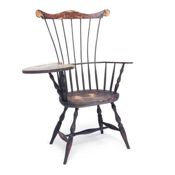 Comb-back Windsor writing desk