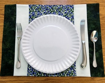 Placemats, Set of 2 Blueberry