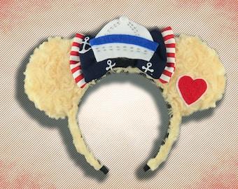 Teddy Bear Mouse Ear Headband with Bow