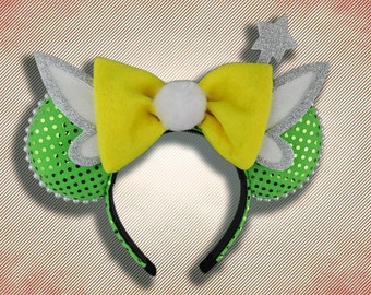Tinker Fairy Mouse Ears with Bow