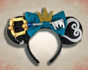Key Sword Mouse Ear Headband with Bow
