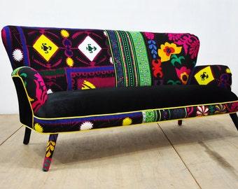 10% SALE: Patchwork Sofa - black passion