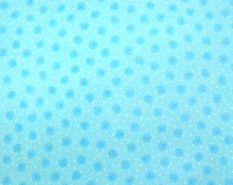 Flannel Fabric by the Yard in a Soft Aqua Rosebud Print 1 Yard