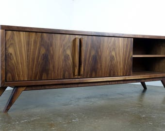 """The """" Lemonade"""" a mid century modern TV stand, TV console, credenza, record player console"""