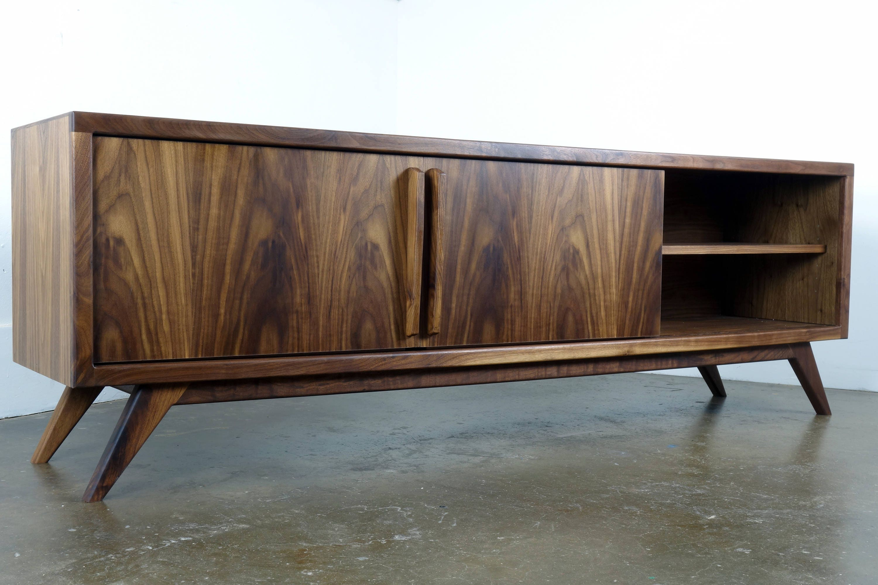 Cabinet Record Player Stereo Cabinet Etsy