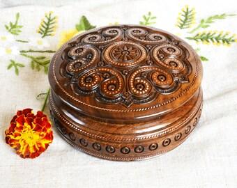 Jewelry box Wooden box Ring box Wood box Jewelry ring box Wedding jewelry box Wood carving box Jewellery wooden box Jewelry box wood B27