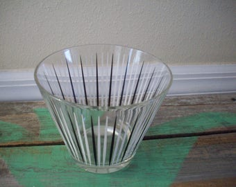 Atomic Striped Glass Ice Bucket