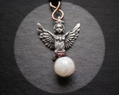 Night Queen Harpy Necklace. Siren Daemon with Moonstone. Lilith's Daughter