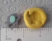 ELEPHANT Mold SILICONE flexible silicone mold for fondant polymer clay candy wax soap cake decorations cupcake toppers chocolate baby circus