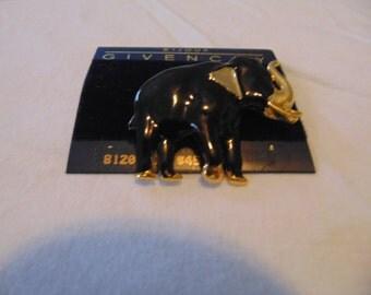 vintage Givenchy elephant brooch nwt unused
