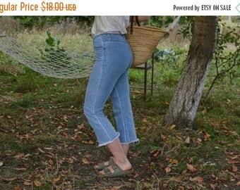 SALE Vintage 80's jeans cut off jeans ankle pants boho hippie
