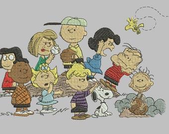 Charlie Brown Machine Embroidery Design