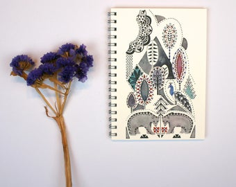 Folklore Forest A6 Notebook