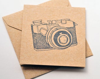 Vintage Camera Mini Cards // Blank Cards // Enclosure Cards // Gift Tags // Party Favor // Love Note // Square Card