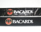 Brand New Bacardi Rum Rubber Bar Spill Mat great for man cave, bar