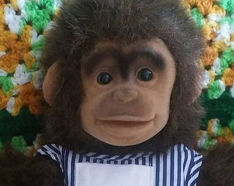 Hand Puppet Hosung Monkey 1994 With Dress