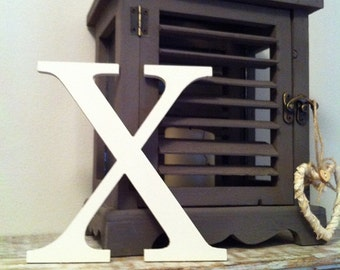Painted Wooden Letter - Large X, Times Roman Font, 40cm high, 16 inch, any colour, wall letter, wall decor, 18mm