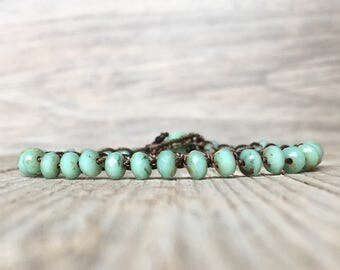 Summer gift jewelry - Beaded bracelet - boho bracelet - Bohemian crochet bracelet - everyday wrap boho - boho crochet bracelet