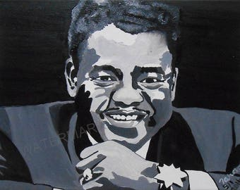 FATS DOMINO Hand Painted Oil Painting 16 x 12