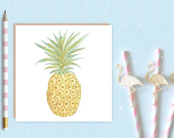 Pineapple Blank Greeting Card, Pineapple card, Pineapple, ideal for pineapple lovers
