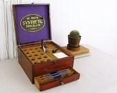 vintage apothecary cabinet,antique dental cabinet,desk organizer,antique mercantile, wooden storage box, mahogany display case