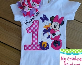 Minnie and Daisey Birthday Shirt with Minnie Mouse Daisey Duck
