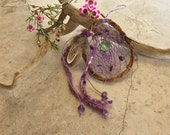 RESERVED for Lindsay ~ Mystic purple Dream Catcher , abalone shell , natural handmade dreamcatchers