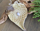 White milkweed seed pod dream catcher