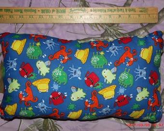 Homemade Pillow--Kids Pillow w/ Silly Monster Print