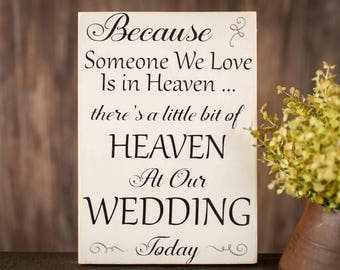 Lost Wedding Gift List : ... wedding memorial sign wedding memorial wedding wood sign wedding decor