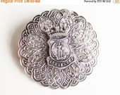 SaLe Victorian Brussels Coat of Arms Brooch Grand Tour Jewelry