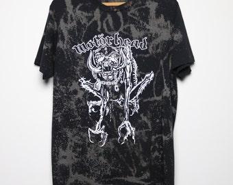 Motorhead Shirt Vintage tshirt 1980s Born To Lose Live To Win Tie Dye tee Lemmy band metal Original 80s