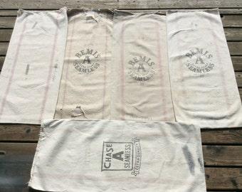 5 pack of Vintage striped sacks. 1029161