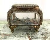 Vintage Filigree Vanity Trinket Box