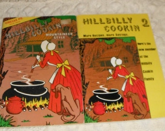 2 Vintage softcover books Hillbilly Cookin & Hillybilly Cookin 2