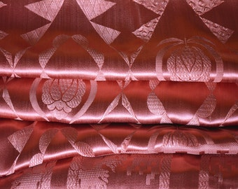 "Satin Bedspread, Art Deco, Extra Long, 88""w. x 112""l."