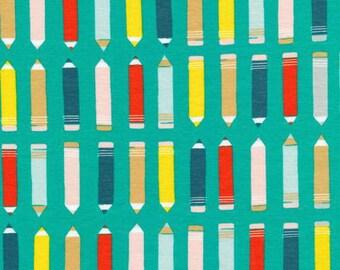 Sidewalk - Art Class Green KNIT 54 Inch by Rae Hoekstra from Cloud9 Fabrics