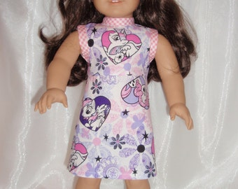 "18 Inch Doll My Little Pony Print Sleeveless A-Line Dress, 18"" Doll Clothes, AG Doll Clothes, Girl Doll Clothes"