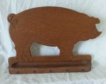 Vintage Farm Piggy Wall Hook