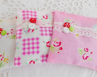 Set Of 3 Floral Lavender Drawer Sachets