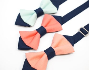 aqua herringbone bow tie for boys toddlers baby by