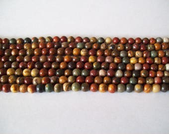 Red Creek Jasper 6mm Beads- 1/2 strand
