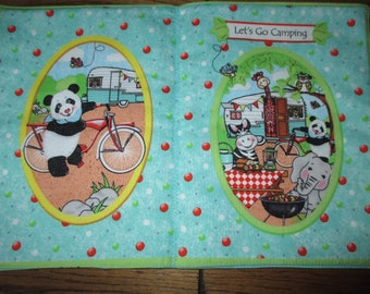 Bazooples Let's Go Camping fabric soft book