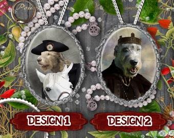 Irish Wolfhound Jewelry/Irish Wolfhound Pendant or Brooch/Irish Wolfhound Necklace/Dog Handmade Jewelry/Custom Dog Jewelry by Nobility Dogs