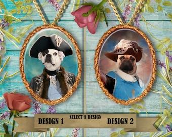 French Bulldog Jewelry/French Bulldog Pendant or Brooch/French Bulldog Portrait/Custom Dog Jewelry by Nobility Dogs