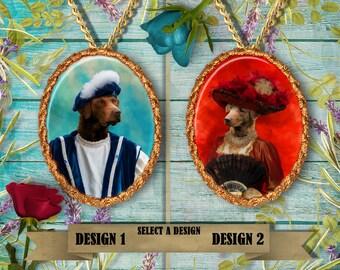 Chesapeake Bay Retriever Jewelry.Chesapeake Bay Retriever Pendant or Brooch.Chesapeake Bay Retriever Necklace.Custom Dog Jewelry